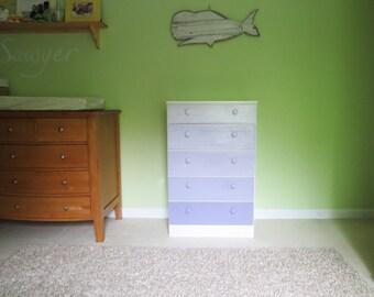 Lavender Ombre Painted Dresser