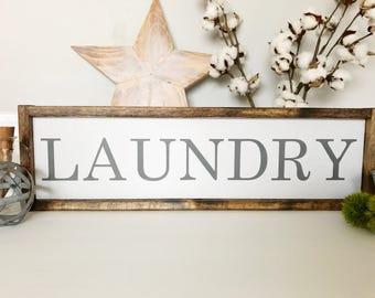 Laundry Sign, Laundry Room Sign, Laundry Room Decor, Laundry Decor, Wall Hangings, Wood Laundry Sign, Farmhouse Decor