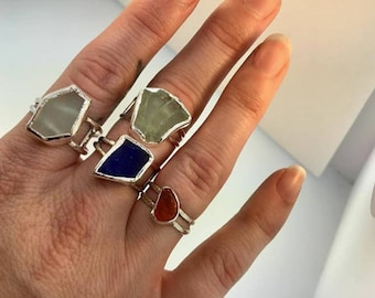 Custom Sea glass ring
