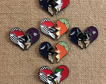 Achey Breaky Batman Enamel Lapel Hat Pin Sets - Joker, Harley Quinn, Catwoman