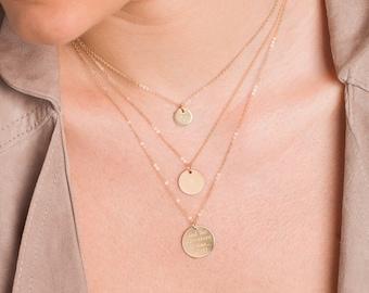 Disc initial etsy letter necklace initial disc necklace14k gold filledrose gold filledsterling aloadofball Image collections