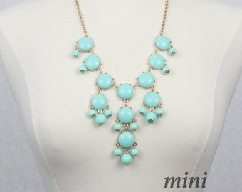 Mint Green Bubble Necklace  Bib Necklace Mini Version