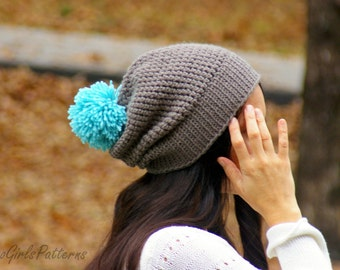 Versatile Reversible Hat Crochet Pattern - baby toddler child adult sizes included L