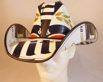 Beer Box Cowboy Hats. Made from recycled Miller Lite Beer boxes.  Beerhat.