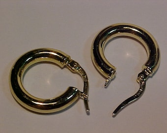 10k yellow gold earrings-hallmarked 10k-ship to the continental USA or Canada