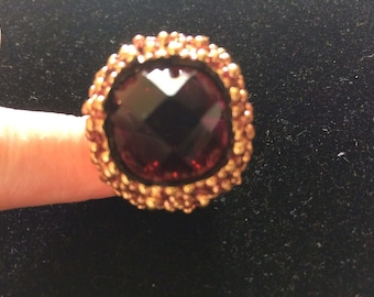 Vintage Chunky Gold Tone Ring