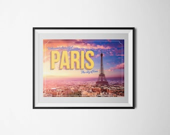 Classroom Decorations - A3 Printable Classroom Poster - Welcome to Paris
