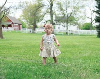 Retro 1960s Inspired Suspender Skirt. Girls Childrens Clothing Size 12m - 10