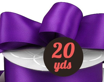"Satin Haze Plum Purple Ribbon - 7/8"" wide at 20 yards"