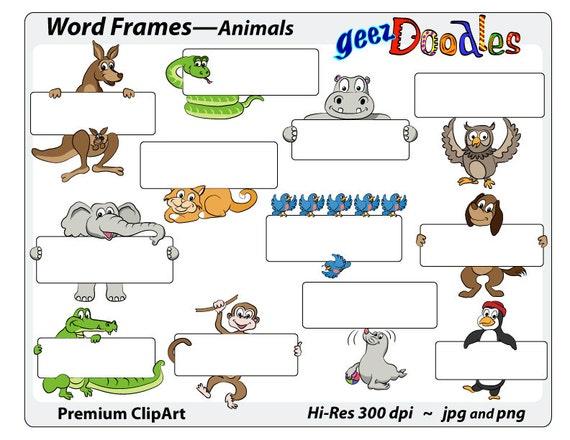 Animals Clip art ~ cartoon clipart ~ Frames with cartoon animals ...