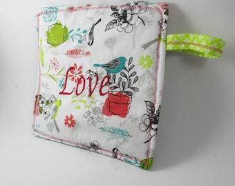 Embroidered pot holder