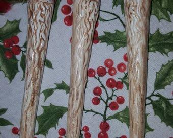 Santa Icicle Ceramic Ornament