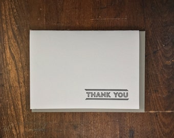 Simple Thank You Card - Letterpress Printed in Portland Oregon