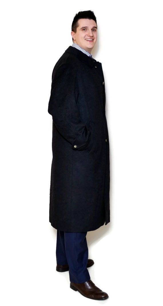 80s Coat Coat for vintage Vintage Men's Classic 50 40 idea Man's Vintage Style Coat L Long Gift Wool Clothing Size Coat him Outerwear Edq1Ucnw