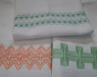 Swedish Weaving Huck Embroidery Border Set A