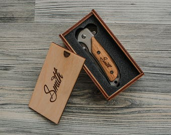 Engraved Pocket Knife Groomsmen Gift Custom Knives With Box Personalized Pocket Knife Best Man Box Christmas Gifts for Dad Birthday Gifts