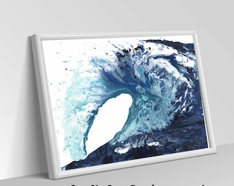 abstract painting, abstract art, abstract ocean painting, wave art, ocean abstract, most popular items, ocean art, original painting canvas