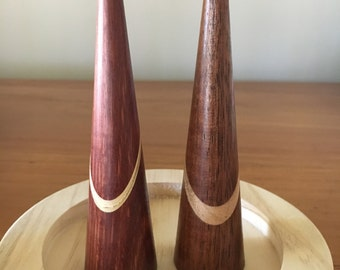 Handcrafted Unique X-Tall  Australian Timbers( Laminated) Wooden Ring Holder.
