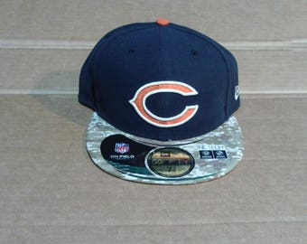 Chicago Bears Fitted Baseball Cap - Mens Size 7 1/2