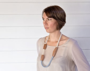 Linen and Cotton Rewarewa Necklace