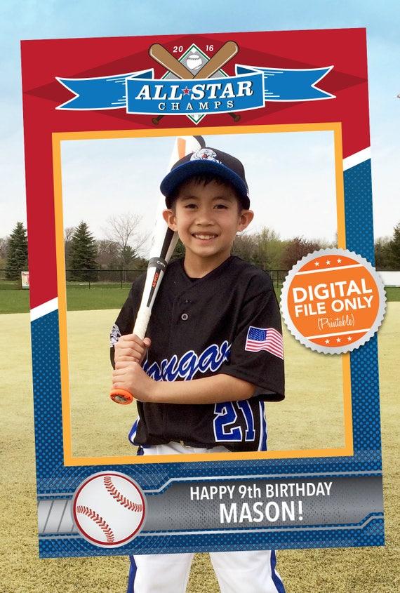 Baseball-Karte Thema Photobooth. Partei Prop Rahmen. Digitale