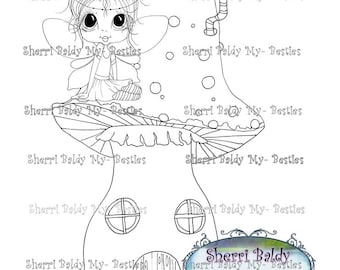 INSTANT DOWNLOAD Digital Digi Stamps Big Eye Big Head Dolls NEW My Bestie Lil fairy mushroom house Bestie By Sherri Baldy