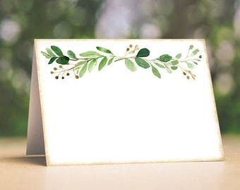 Wedding Place Cards Rustic Eucalyptus Herbs Greenery Swag Tent Style Place Cards or Table Place Cards #399