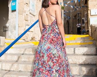 Boho summer maxi dress for woman/backless dress /prom dress/resort collection