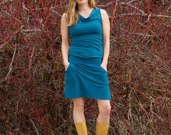 Hemp Lupine All-in-One Dress - Women's Organic Clothing - Eco-Friendly Summer Dress