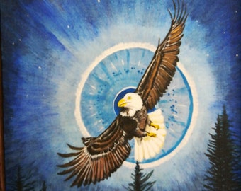 Original Soaring Bald Eagle