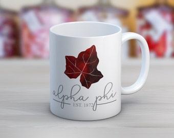 Alpha Phi Established Mug Sorority Coffee Mug