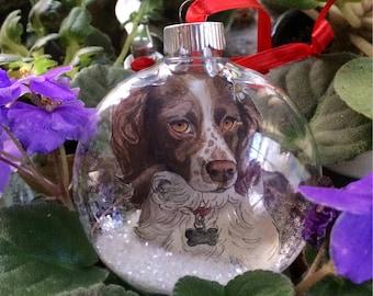 Custom pet christmas ornament