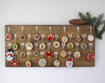 Christmas Advent Calendar - Advent Calendar - Christmas Decorations - Christmas Countdown - Rustic Advent Calendar - Holiday Decor- Calendar