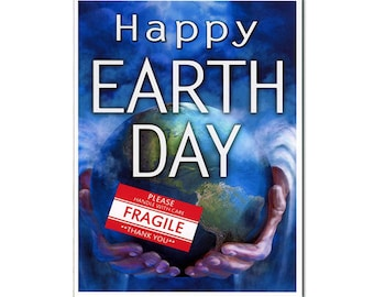 Funny Earth Day Card, Funny Holiday Card, Earth Day Greeting Card, Art, Gift, For Him, For Her, Boyfriend, Girlfriend, Environmentalist