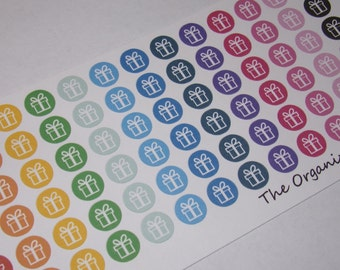 78 Mini Icon Birthday Stickers / Gift Stickers / Present Stickers / Planner Stickers