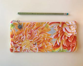 Sunny flowers / sunny flowers bag / cosmetic bag