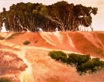 San Diego Oil Painting, Point Loma, Sunset Cliffs, Print on Aluminum, Original oil Painting of San Diego CA