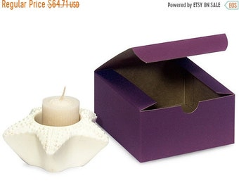 Mothers Day Sale 100 Pack Matte Purple Paper Tuck Top Style Packaging Retail Gift Boxes 4X4X2 Inch Size