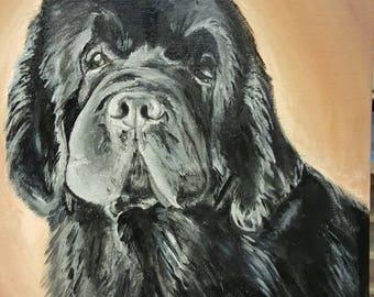 Custom SAMPLE-Custom portrait custom order for single pet portrait