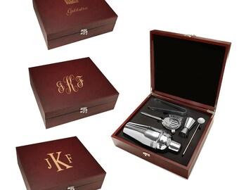 Wonderful Personalized Barware Set   Customised Cocktail Making Set   Monogrammed  Gift   Boxed Cocktail Shaker