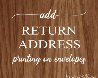 Add Return Address Printing to any Note Card Order