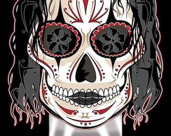 The Crow Sugar Skull 11x17 Print