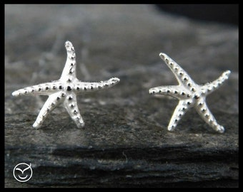 Sterling silver starfish post earrings, stud earrings, 131