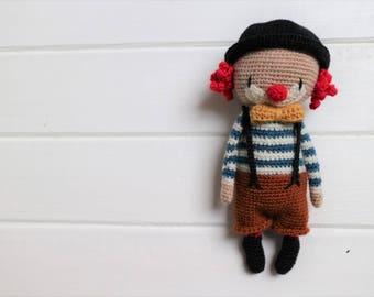 LuiClown crochet Amigurumi pattern clown Mr. Luiwood PDF
