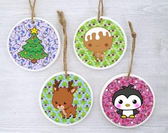 Children's Christmas Ornaments Child Christmas Ornament Cute Ornament for Child Holiday Ornaments for Children Kawaii Christmas Ornaments -4