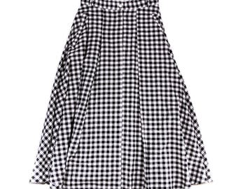 BB black gingham skirt