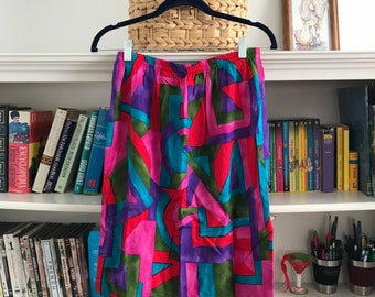 Vntg 80s Pencil Skirt w/ Rear Slit size 4