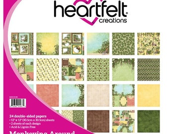 "Heartfelt Creations Monkeying Around Paper Collection 12"" x 12"" HCDP1-276"