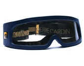 RESERVED - Vintage PIERRE CARDIN ski goggles, Sport sunglasses, French fashion designer futuristic ski mask, Skiing or snowboard accessory
