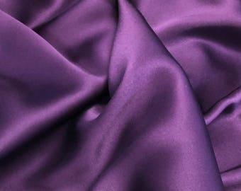"""2.5yd Silk Charmeuse 54""""w Purple"""